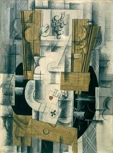 Compotier et cartes, Georges Braque, 1913