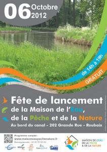 Fête de lancement de la Maison de l'Eau, de la Pêche et de la Nature le 6 octobre 2012 à Roubaix