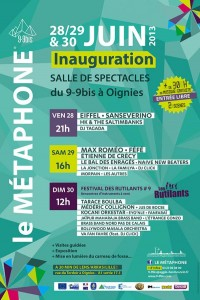 Inauguration du Métaphone à Oignies les 29 et 30 juin 2013