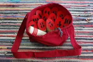 Mölkky rouge sac bandoulière