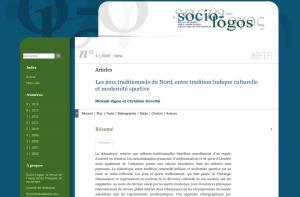 Socio-Logos : Les jeux traditionnels du Nord, entre tradition ludique culturelle et modernité sportive
