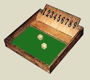 Shut the box jeu location