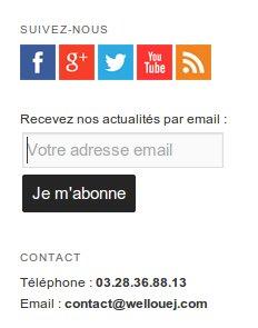 Actualités blog Wellouëj par email