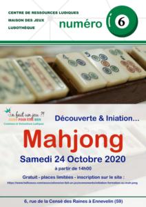 Découverte et initiation au Mahjong