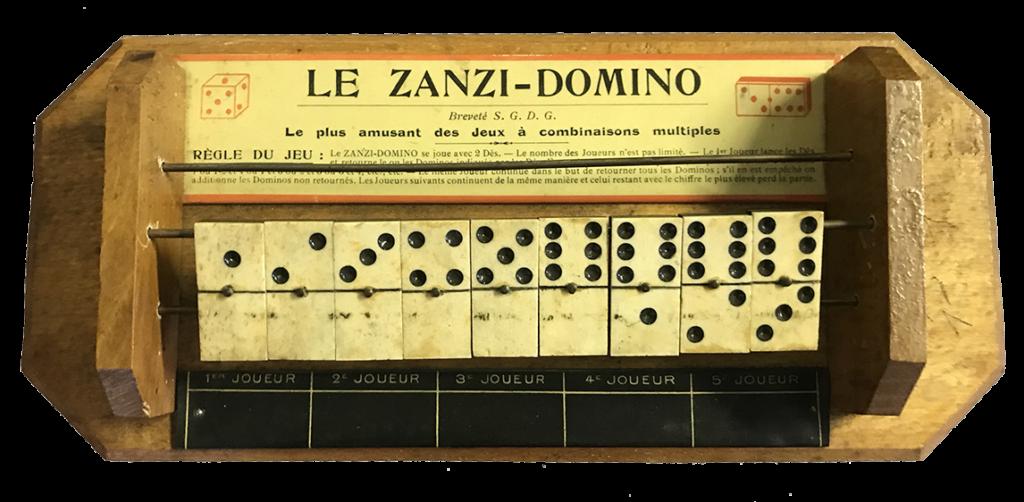 le zanzi-domino jeu