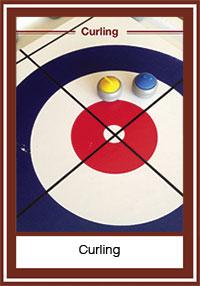 Jeu du curling sans balai ni lac gelé
