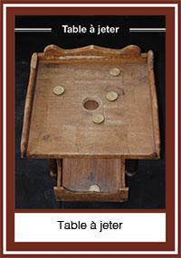 Table à jeter – un jeu comme à la fossette