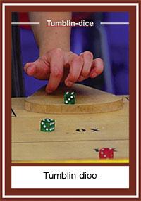 Tumblin-dice – un jeu de pichenette avec des dès